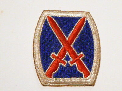A   WW 2 U S Army 10th Division Cut Edge Snow Back Patch