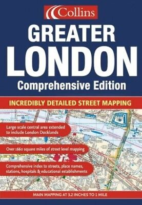 Greater London Street Atlas by Collectif Hardback Book The Cheap Fast Free Post