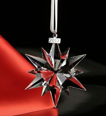 Beautiful Swarovski 2017 Christmas Large Star Crystal Ornament New In Box