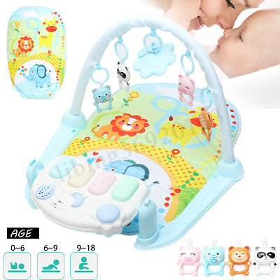 5 in 1 Baby Gym Floor Play Mat Blanket Pedal Piano Musical Kick Play Toy Healthy