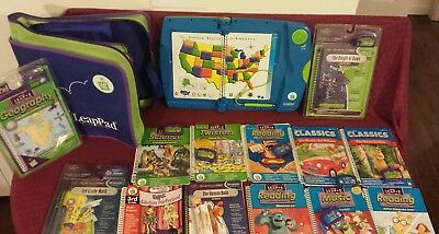 Leap Frog Leap Pad Learning System PRO BOOKS 14 & 13 CARTRIDGES (2nd-3rd Grade)