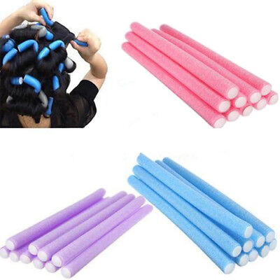 10pcs Soft Foam Curler Maker Bendy Twist Curls Tool DIY Styling Hair Roller 1210