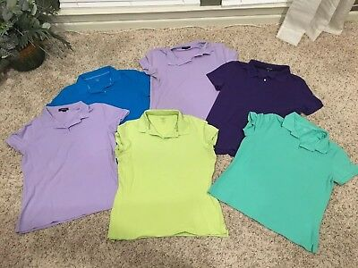 159015998a1df LOT OF 2 Womens Lands End Sleeveless Tank Tops Purple And Rose Size ...