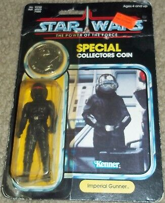 Vintage Star Wars POTF Imperial Gunner action figure MOC w/ coin Kenner 1984