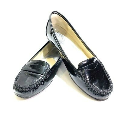 6367bc11c71 Michael Kors Womens Black Daisy Penny Loafers 8.5M Flats Driving Moccasins  Shoes