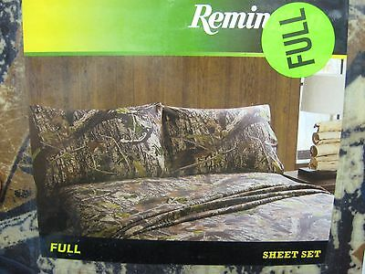 Remington Fishing Angler Scene Queen Size Bed Sheets