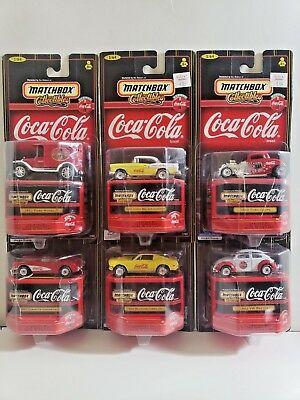 Matchbox Collectibles Coca-Cola Complete Set Of 6 Vehicles Lot Free Shipping