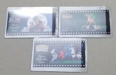 Lot of 3 Disney Classic Collectible Cards