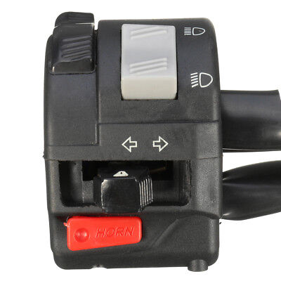 Motorcycle 7/8'' Handlebar Turn Signals High/Low Beam Headlight Horn Switch