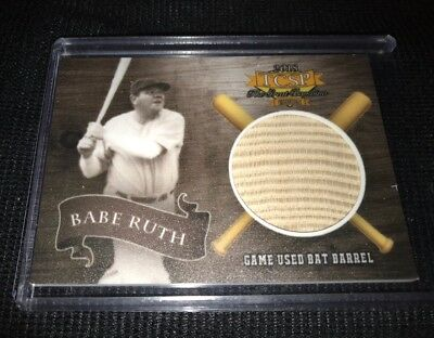 2018 TCSP Legends Babe Ruth Game Used Bat Barrel Relic Serial Numbered /18