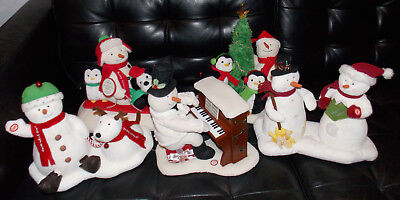 5 Hallmark JINGLE PALS Musical Snowmen Singing, Dancing, Piano Plush Christmas