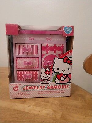 2016 Sanrio Hello Kitty Armoire Jewelry Box - Shelves Drawer Spinning Caddy NEW