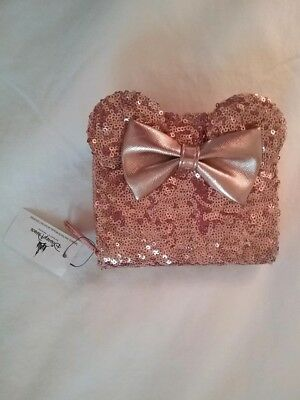 Disney Parks Loungefly Rose Gold Wallet NEW W TAGS