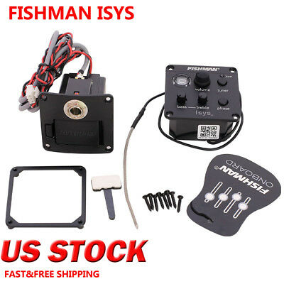 2018 New Fishman Isys+ Eq Acoustic Guitar Pickup Onboard Preamps Voice Pickup