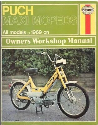 PUCH MAXI mopeds ,SPORT,SUPER,N,N2,S,S2,MOPED HAYNES WORKSHOP MANUAL 1969-1977