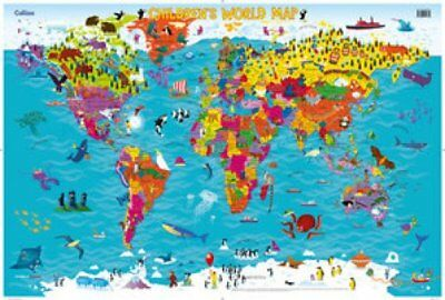 Collins Children's World Map 9780008114732 (Sheet map, rolled, 2015)