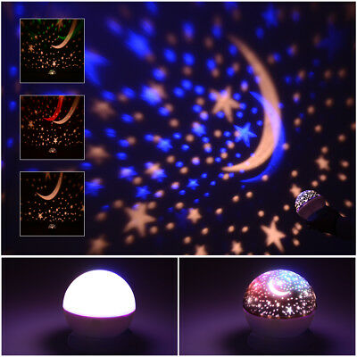 Baby Sleeping Rotating LED Projector Night Light Sky Moon Star Projection Lamp