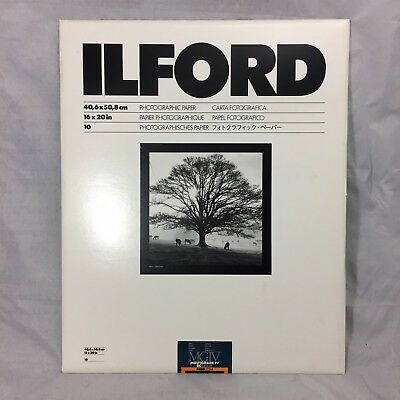 "Ilford 16 x 20"" in. Multigrade IV RC Deluxe MGD.25M B&W Satin Paper 10 Sheet"