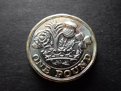 £1 Coin Minted in 2016 for 2017, 12-Sided One Pound UNCIRCULATED Queen Elizabeth