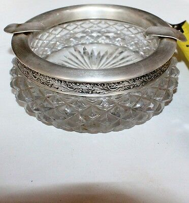 Russia USSR crystal Bowl Cup Silver 875 Glass sickle hammer