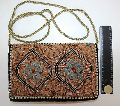 Beautifully ANTIQUE BEAD clutch women BAG VINTAGE