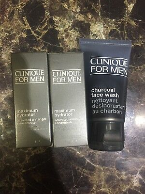 clinique for men maximum hydrator 7ml X3 And charcoal Face Wash 30ml