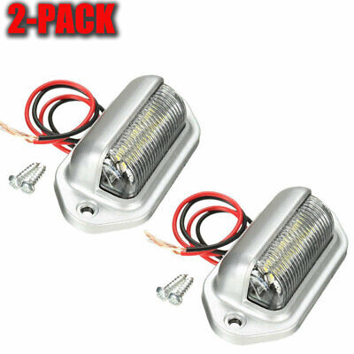 2 Universal LED License Number Plate Light Lamps for Car Truck SUV Trailer Lorry