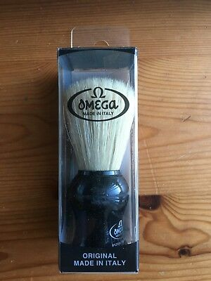 Shaving Brush - Omega, New, Sterilized Pure Bristles, Made in Italy