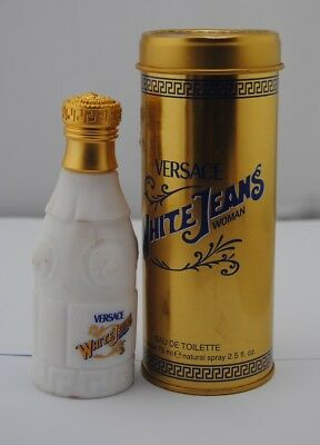 Versace White Jeans Woman 75ml Edt Spray Discontinued Fragrance *as pictured*