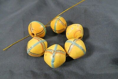 6  Antike Glasperlen Murano AB80 Antique King beads African trade beads Afrozip