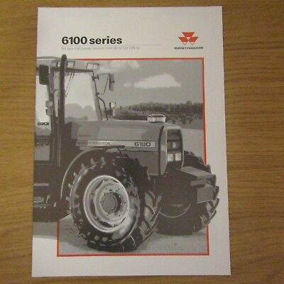 MASSEY FERGUSON 6100 Series English Tractor Sales Brochure Leaflet 1995