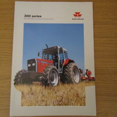 MASSEY FERGUSON 300 Series English Tractor Sales Brochure 1995
