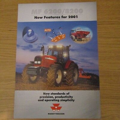 """MASSEY FERGUSON 6200 8200 """"new features for 2001"""" UK English Tractor Brochure"""