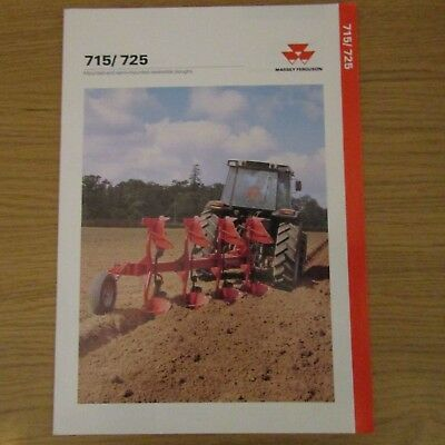 MASSEY FERGUSON MF715 MF725 MF 715 725 Plough UK Market English Brochure 1992