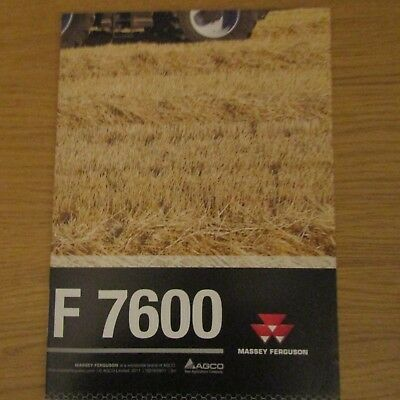 MASSEY FERGUSON MF 7600 Tractor ACTIVA S Combine Large Fold-Out A1 Poster 2011