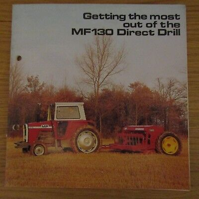 MASSEY FERGUSON Getting the most out of the MF130 MF 130 Direct Drill Brochure