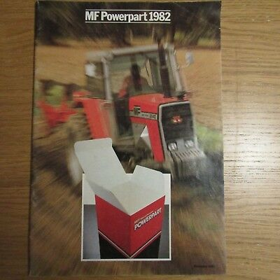 MASSEY FERGUSON POWERPART Tractor Parts Accessory Accessories UK Brochure 1982