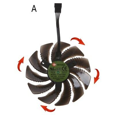 88mm T129215SU Graphics Card Cooling Fan For Nvidia Gigabyte GTX Aorus-Clockwise