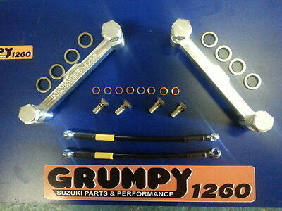 suzuki gsxr 1100/bandit 1200 top end oiling kit/billet alloy/aeroquip hosed