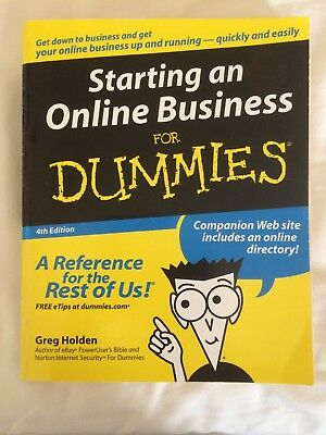 Starting an Online Business For Dummies by Greg Holden (Mixed media product,...