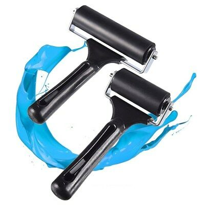 Brayer Rubber Roller Brush Block Paint Art Painting Artists Craft Tool 15cm*6cm