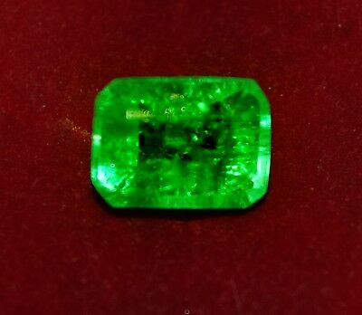 6.05 Cts GGL Certified  Natural Green Emerald, Emerald shape Zambian Gem