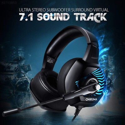 2D77 ONIKUMA Stereo Bass Surround Gaming Headset for PS4 New Xbox One PC Mic*
