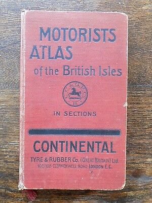 1910 Early Road Atlas British Isles England Wales Scotland Ireland Antique Map