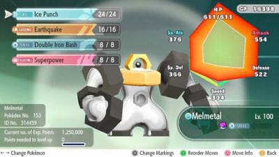 6 IV Melmetal + Meltan Max AVs for the newly released Pokemon Let's Go Eevee