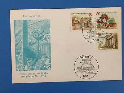 FDC 1986 Berlin Briefmarken Portale und Tore in Berlin
