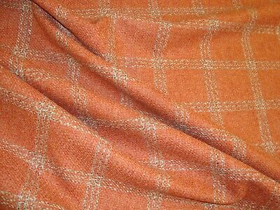 "One yd LEE JOFA 100% WOOL PLAID FABRIC BUTE UPHOLSTERY COAT 60"" x 36"" BTY"
