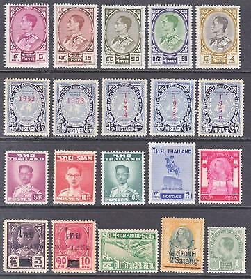 Thailand Early Mint Hinged Issues All with Original Gum...See Scans...A+A+A+