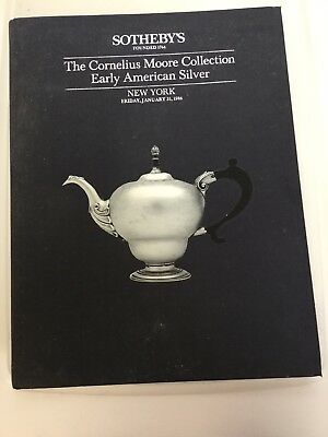 The Cornelius Moore Collection Of Early American Silver Sotheby Auction Catalog