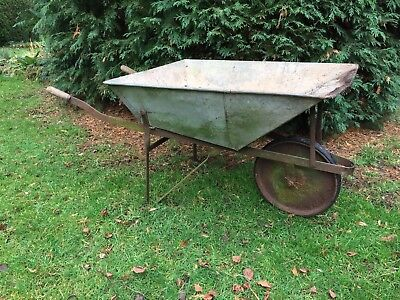 Vintage Metal Wheelbarrow